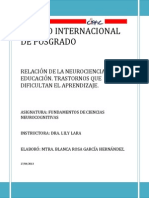 Ensayo de Ciencias Neurocognitivas