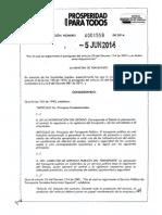 Resolución 0001558_2014 Extracto Especial