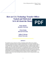 How Are US Technology Transfer Offices Tasked and Motivated