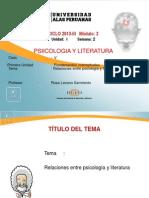 Ayuda 2 Relaciones Entre Psicologia y Literatura