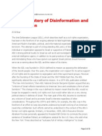 ADL - A History of Disinformation and Intimidation