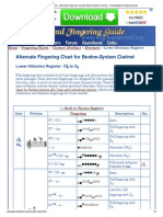 Lower Altissimo Register - Alternate Fingering Chart for Boehm-System Clarinet - The Woodwind Fingering Guide