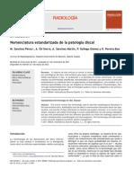 Nomenclatura Estandarizada de La Patologia Discal