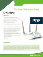 TL-WA901ND V3 Datasheet