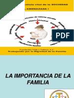La Familia Célula Vital de La Sociedad Amenazada