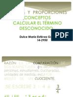 RAZONES  Y  PROPORCIONES TAREA IV PROPEDEUTICO DE MATEMATICA.pptx