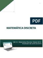 MA12 - Matemática Discreta Ed. 2012 - Atualizado Junho 2014