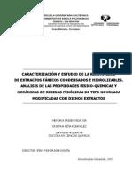 Caracterizacion y Estudio de La Reactividad de Extractos Tanicos Condensados e Hidrolizables