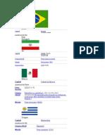 Bandeiras e Informações