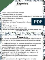Exercício Sobre Lingua Oral e Escrita