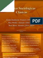 Teorías Sociológicas Clásicas Actualizado