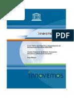Innovacion Educativa y Calidad de La Educacion