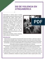 La Crisis de Violencia en Latinamerica Ya