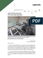 La Jornada- Ataca Israel Escuela de La ONU Para Niñas Palestinas
