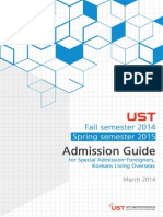 UST Admission Guide Fall en 2014