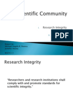 Scientific Community - Research Ethics Report