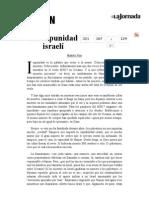 La Jornada- La Impunidad Israelí