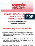 Apresentação Minuta Plano de Carreira - 201 4 (1) (1)