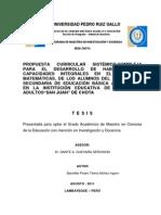 Tesis Propuesta Sistemico Curricular n 7