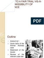 Presentation - Animal Activists
