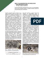 Excavaciones y Calzaduras en Los Suelos de Lima Metropolitana. Arnalado Carrillo