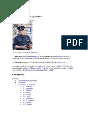 Policía Doc Policía Seguridad Nacional