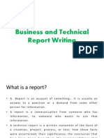 Business and Technical Report Writing