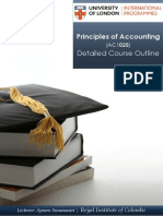 Financial accounting Lecture Plan