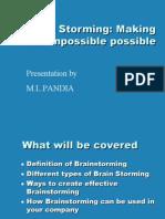 Brainstorming basics