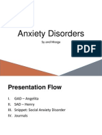 A Presentation on Anxiety Disorders (DSM5)