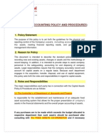 Fixed Asset Policy