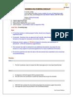 Business Visa Stamping Checklist