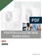 WTMC WTXD BOSCH Siemens Gas and Electric Dryer