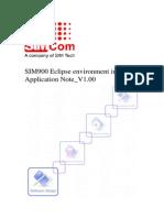 SIM900 Eclipse Environment Install Application Note V1.00
