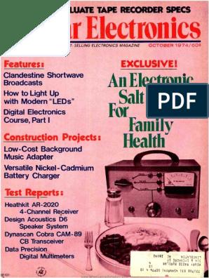 PE - 1974-10 pdf | Compact Cassette | Loudspeaker