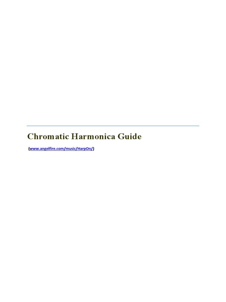Chromatic Harmonica Guide Harmonica Chord Music