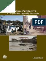 Analytical Perspective of Pro-poor Slum Upgrading Frameworks