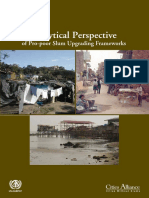 Analytical Perspective of Pro-poor Slum Upgrading Frameworks
