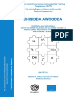 Building NGO/CBO Capacity Through Managing and Developing Human Resources - Part 1 Concepts and Strategies (Somali)
