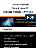 Waranpong Boonsiritomachai a Research Framework for the Adoption of Business Intelligence by SMEs