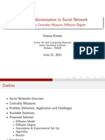Influence Maximization in Social Network - Using A New Centrality Measure Diffusion Degree