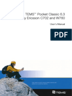TEMS Pocket 6.3 C702 Users Manual