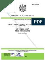 CP_F_01!01!2007 Proiectarea Şi Construcţia Fundaţiilor Pe Piloţi
