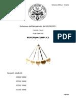 Relazione Pendolo [Fisica I]