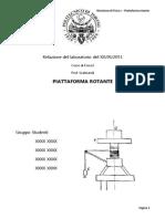 Relazione Piattaforma rotante [Fisica I]