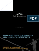 Indirect Tax Benefits on Supplies to SEZ- Contractors Perspective- Final