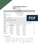 MBA- Management Process and Organization Behavior