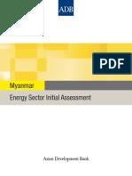 Myanmar Energy Sector Assessment