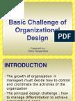 Basic Challenge of Organizational Design Meily