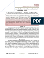 Industrial Microcontroller Based Neural Network Controlled  Autonomous Vehicle